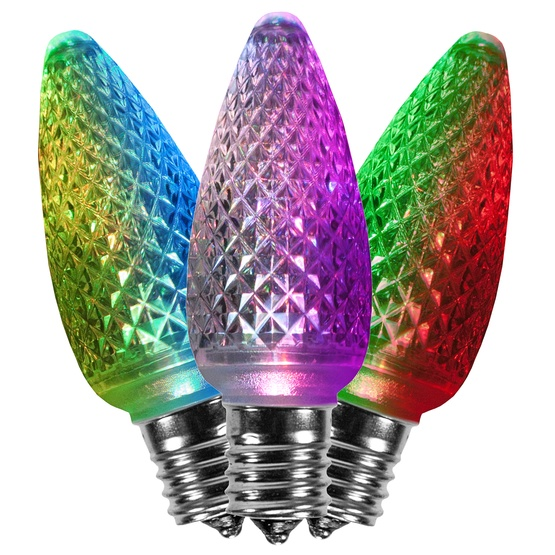 C9 Color Change Multicolor LED Christmas Light Bulbs