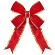 "36"" Red Nylon Bow w/Gold Trim"