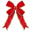 "96"" Red Nylon Bow w/Gold Trim"