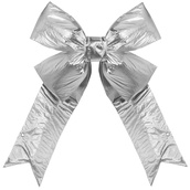 Silver Metallic 3D Lame Bow