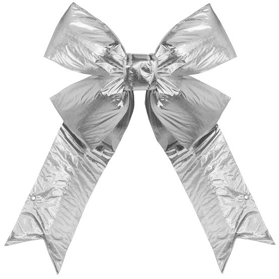 "24"" Silver Metallic Lame Bow"