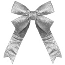 Silver Decorative 3D Glitter Christmas Bow
