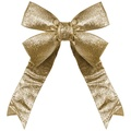 "18"" Gold Glitter Christmas Bow"