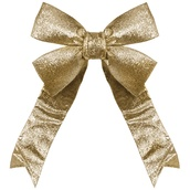 Gold Decorative 3D Glitter Bow