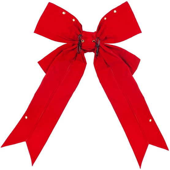 "15"" Red Velvet Imperial Structural Bow"