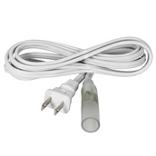 "2-Wire, 13mm (1/2""), Power Cord With PVC Connector and Plug"