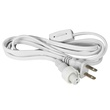 "2-Wire, 13mm (1/2""), Power Cord With Power Connector, Plug, and Switch"