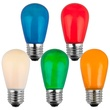 S14 Opaque Multicolor, 11 Watt Replacement Bulbs