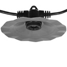 "35' E26 Commercial Patio Light Stringer, SJTW Black Wire, 60"" Spacing"