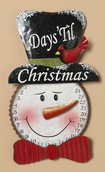 Metal Snowman Count Down to Christmas Advent Calendar