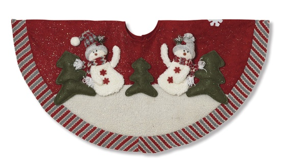 "42"" Country Snowman Rustic Tree Skirt"