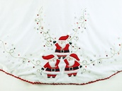 "56"" 56"" White Velvet Santa Tree Skirt"