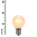 G30 Triple Dipped Transparent Pearl White, 5 Watt Replacement Bulbs