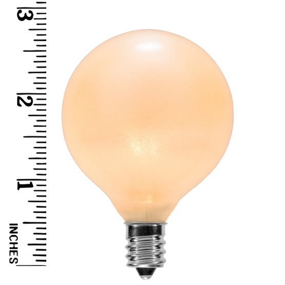 G50 Triple Dipped Transparent Pearl White, 7 Watt Replacement Bulbs
