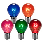 S11 Triple Dipped Transparent Multicolor, 10 Watt Replacement Bulbs
