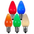 C7 Multicolor Opaque LED Christmas Light Bulbs