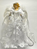 "16"" White and Silver Angel Tree Topper"