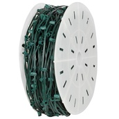 "C9 E17 Light Spool, 1000' Length, 6"" Spacing, SPT2 10 Amp Green Wire, Commercial Grade"