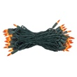 "50 Amber / Orange Lights, 6"" Spacing, Green Wire"