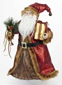 "16"" Burgundy Santa Tree Topper"