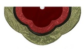 "54"" 54"" Green and Red Velvet Tree Skirt"