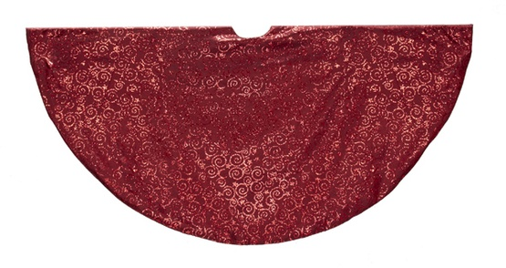 "48"" Burgundy Tree Skirt"