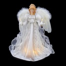 "14.5"" White and Silver Angel Tree Topper"