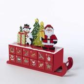 "14"" Wooden Christmas Sleigh Advent Calendar"