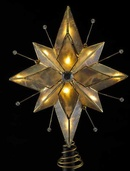 "8.5"" 5 Point Capiz Star Tree Topper"