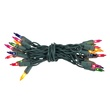 "20 Multi Color Craft Mini Lights, 4"" Spacing, Green Wire"
