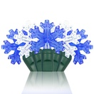 "35 Snowflake Blue / Cool White LED Lights, 6"" Spacing"