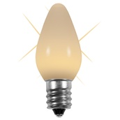 C7 Twinkle Warm White Opaque LED Christmas Light Bulbs