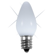 C7 Twinkle Cool White Opaque LED Christmas Light Bulbs