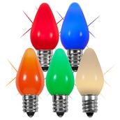 C7 Twinkle Multicolor Smooth LED Christmas Light Bulbs