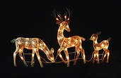 Electric White Reindeers, Set of 3