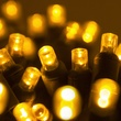 "70 5mm Gold LED Christmas Lights, 4"" Spacing"