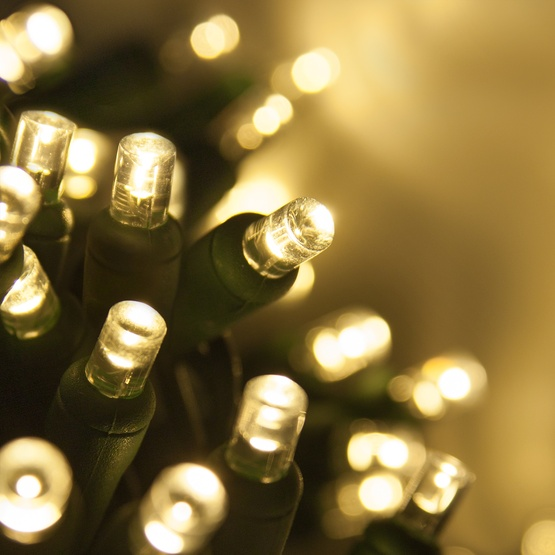 Gold Christmas Lights White Wire