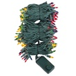"140 Multi Color Chasing Mini Lights, 4"" Spacing, Green Wire"
