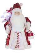 "12"" LED Fiber Optic Santa Tree Topper"