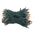 "100 Multi Color Christmas Tree Mini Lights, 6"" Spacing, Green Wire"
