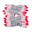 "100 Pink Christmas Tree Mini Lights, 2.5"" Spacing, White Wire"