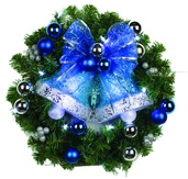 Battery Operated Prelit LED Wreath, Cool White Lights