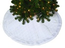 "48"" White Quilted Tree Skirt"
