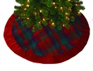 "48"" Red Plaid Tree Skirt"