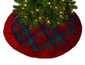 """48"""" Red Plaid Tree Skirt"""