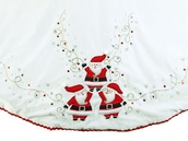 "56"" White Velvet Santa Tree Skirt"