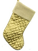 "19"" Gold Satin Pleated Socking"
