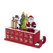 "14"" Wooden Christmas Sleigh Advent Calendar"