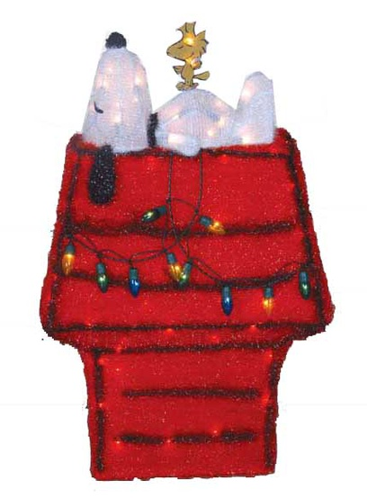 Soft Tinsel Snoopy and Dog House