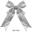 Silver Metallic 3D Lame Christmas Bow